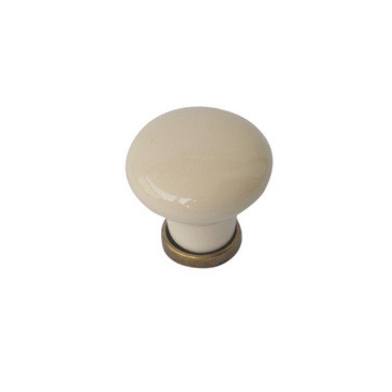 כפתור פורצלן שמנת 332