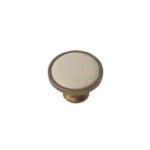 ידית כפתור פורצלן פליז עם שמנת K341