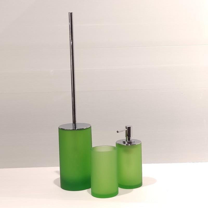 סט אביזרי אמבטיה סמבה ירוק