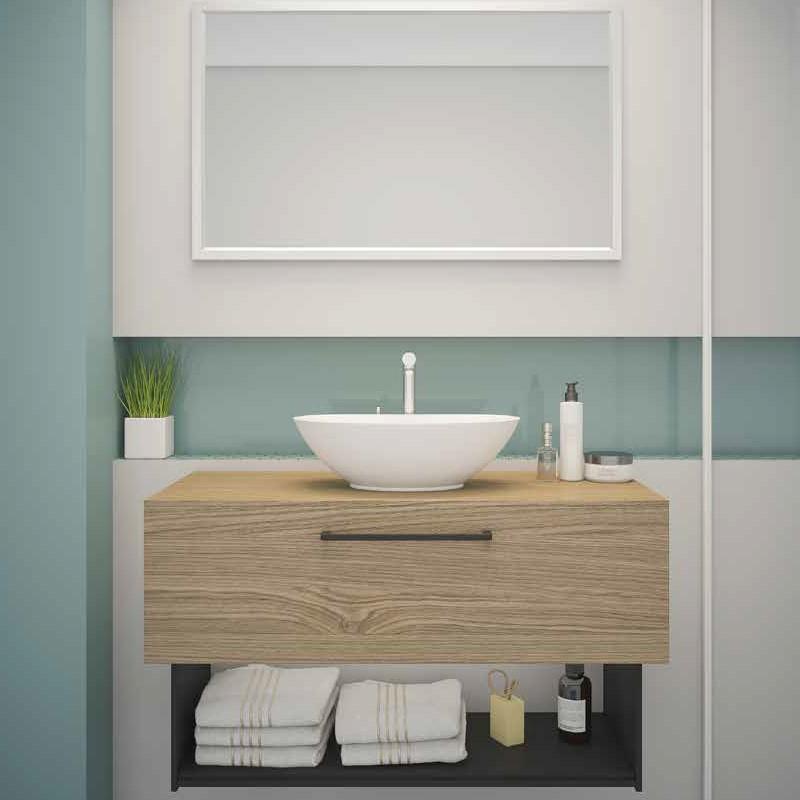 ארון אמבטיה אמבין HPL דגם טוקיו