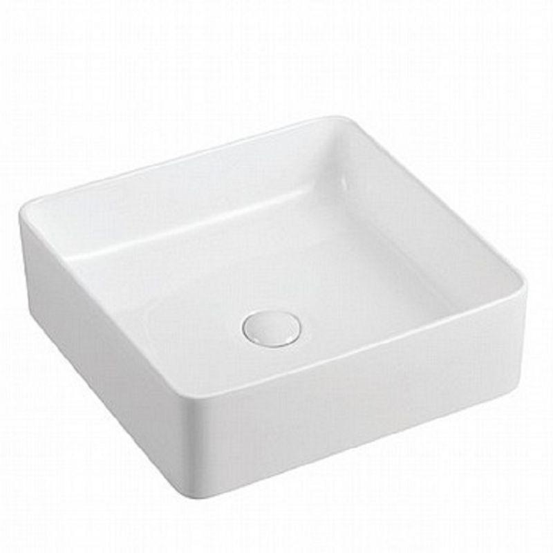 כיור אמבטיה מונח מרובע 32/32 לבן