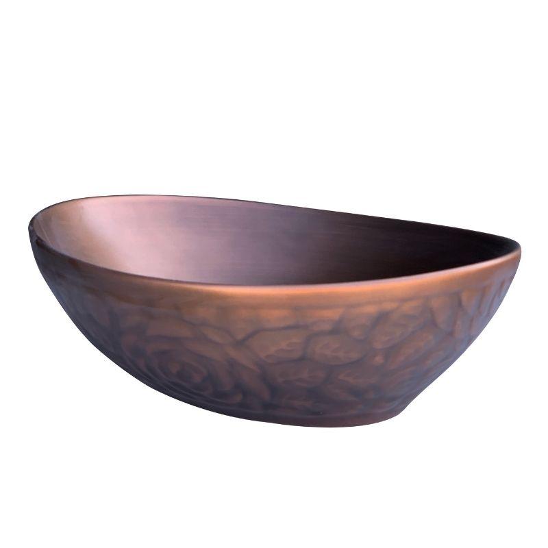 כיור אמבטיה אובלי מונח 41/34 נחושת אדומה