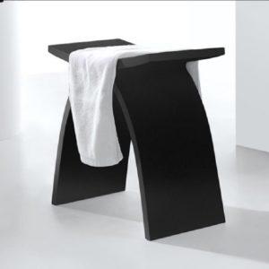 """כסא למקלחון מעוצב אבן קוריאן שחור 42/23 ס""""מ"""
