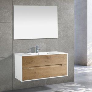 ארון אמבטיה תלוי אפוקסי חזית פורניר דגם NEW YORK
