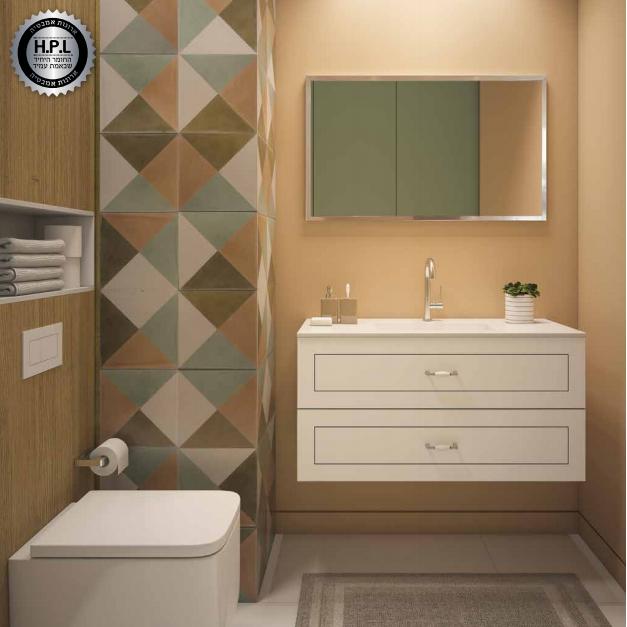 ארון אמבטיה אמבין HPL דגם מונקו
