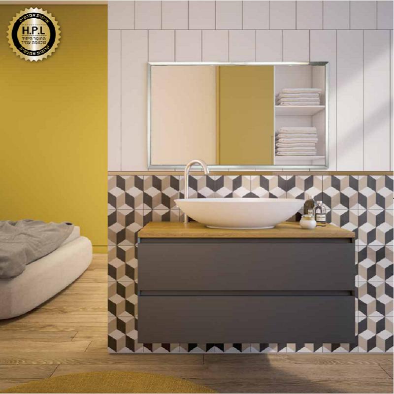 ארון אמבטיה אמבין HPL דגם מילאנו