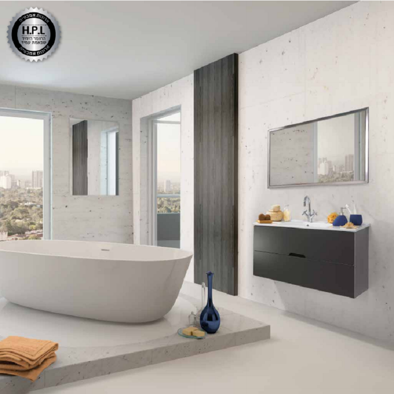 ארון אמבטיה אמבין HPL דגם נועם