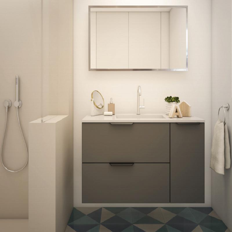 ארון אמבטיה אמבין HPL דגם ניס