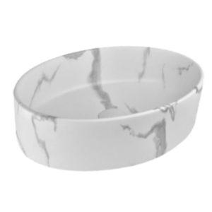 כיור אמבטיה אובלי 50/35.5 לבן קלקתא