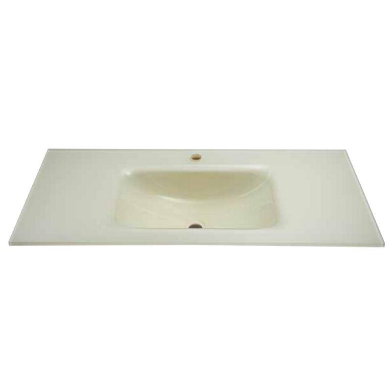 """כיור זכוכית לאמבטיה 60-120 ס""""מ שמנת"""