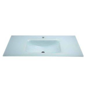 """כיור זכוכית לאמבטיה 60-120 ס""""מ לבן חלבי"""