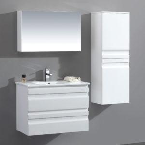 ארון אמבטיה תלוי אפוקסי לבן מבריק SELENA