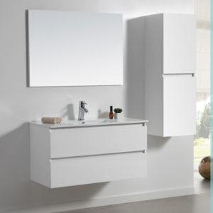 ארון אמבטיה תלוי פורמיקה לבן מט URBAN
