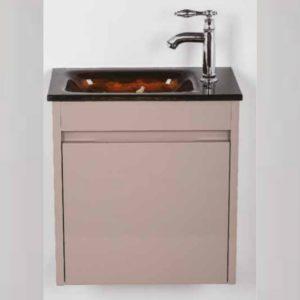 """ארון אמבטיה אפוקסי תלוי 43/25 ס""""מ מוקה"""
