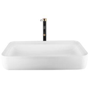 כיור אמבטיה מלבני 75/40 לבן מבריק