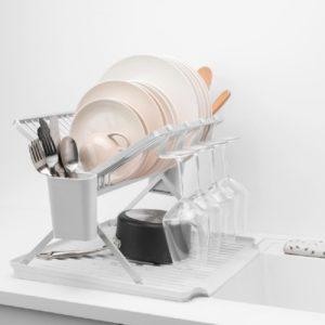 מתקן לייבוש כלים דו קומתי BRABANTIA אפור בהיר