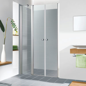 """מקלחון חזית קבוע עם 2 דלתות לפי מידה עד 162 ס""""מ"""