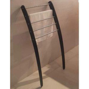 סולם נשען לאמבטיה 5 מוטות לתליה שחור