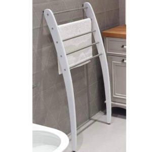 סולם נשען לאמבטיה 5 מוטות לתליה לבן