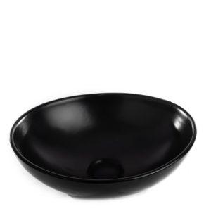 כיור אמבטיה מונח חרס אובלי 35/27 שחור מט